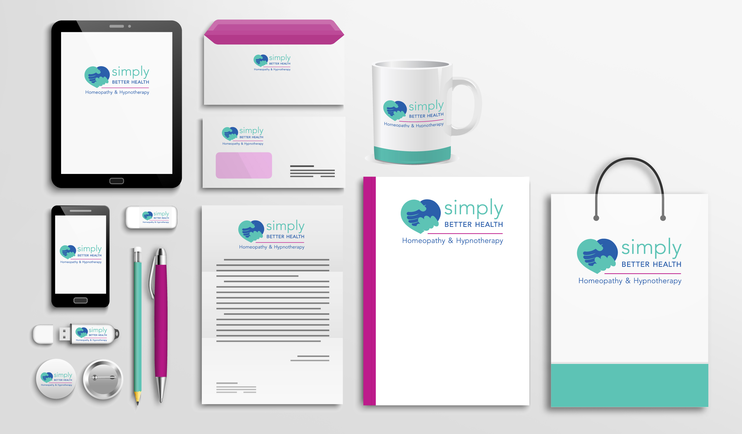 Simply Better Health Stationery Six Degrees Marketing