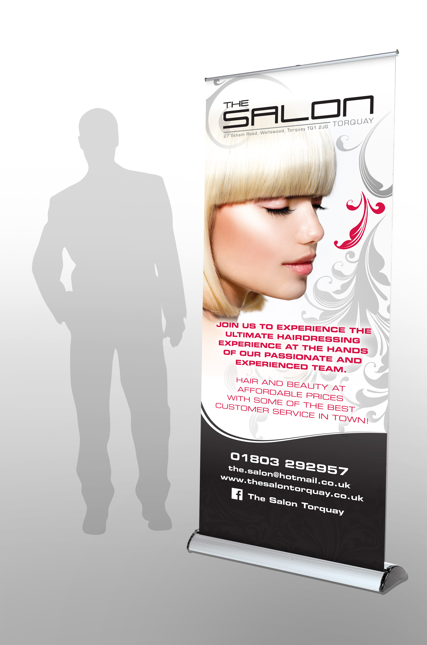 The Salon roller banner Six degrees Marketing