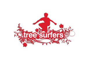 Tree Surfers high wire course logo