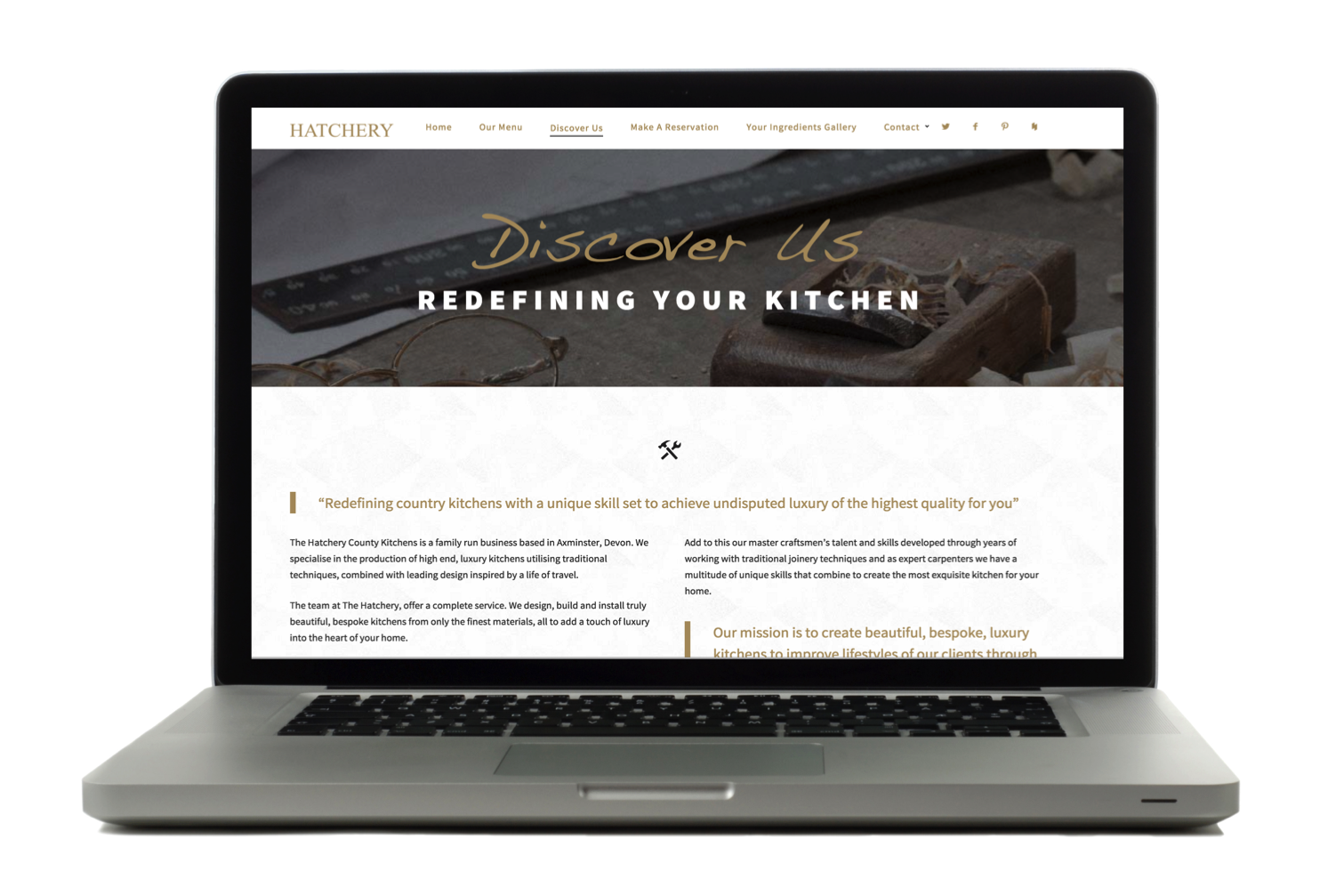 The Hatchery Country Kitchens web content